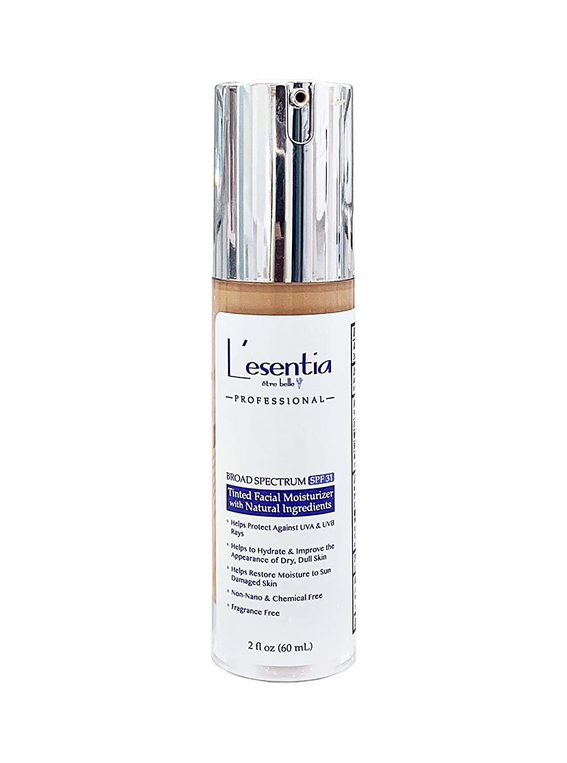 Lesentia Tinted Moisturizer with SPF 31 – Tinted Moisturizer For Face With Spf and Blemish Concealer with All Natural Ingredients like Shea Butter, Jojoba Oil, Vitamin E and Zinc (Medium – 2fl oz)