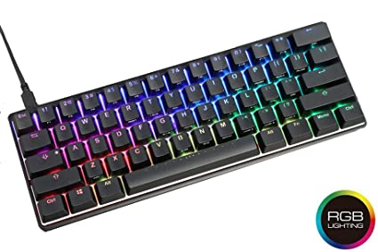 0f64bd41401 Vortexgear Mechanical Gaming Keyboard Pok3r 60%, ABS Double Shot  Translucent Keycaps, RGB LED