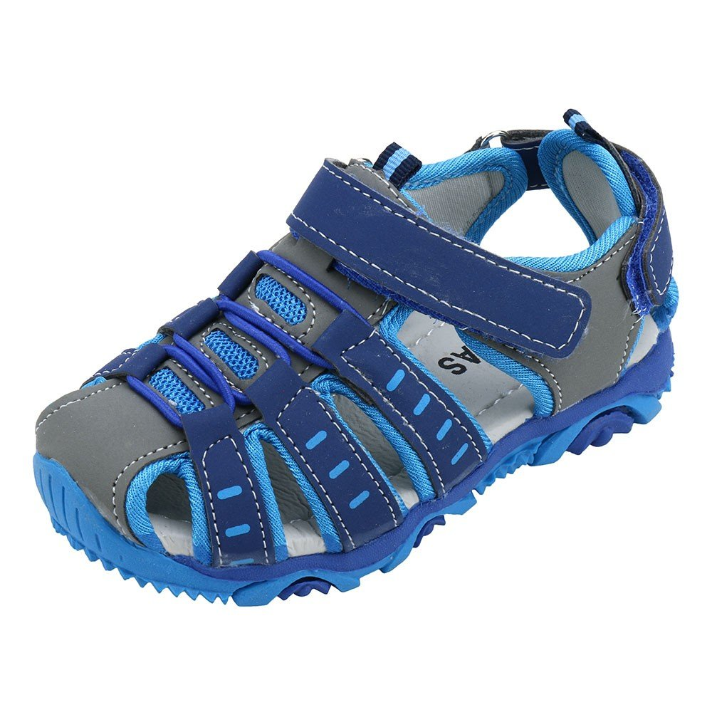 HAALIFE◕‿Leather Outdoor Sport Sandals,Fisherman Sandals for Boys(to/Little Kids) Blue