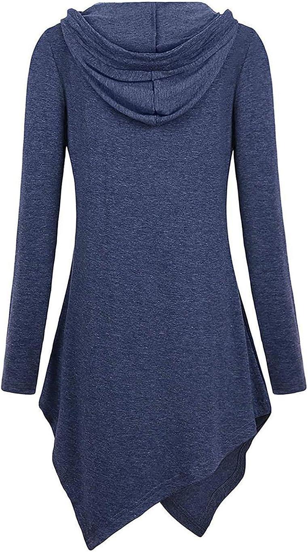 Youandmes Women Hoodies Casual Solid Hooded Long Sleeve Fashion Sweatshirt Outwear