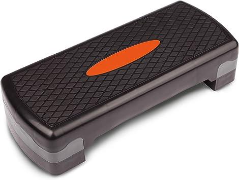 Ultrasport Step, Stepper óptimo para el aeróbic y el fitness,regulable en alturas diferentes,con superficie antideslizante,diferentes colores y tamaños,peso óptimo del usuario 150kg: Amazon.es: Deportes y aire libre