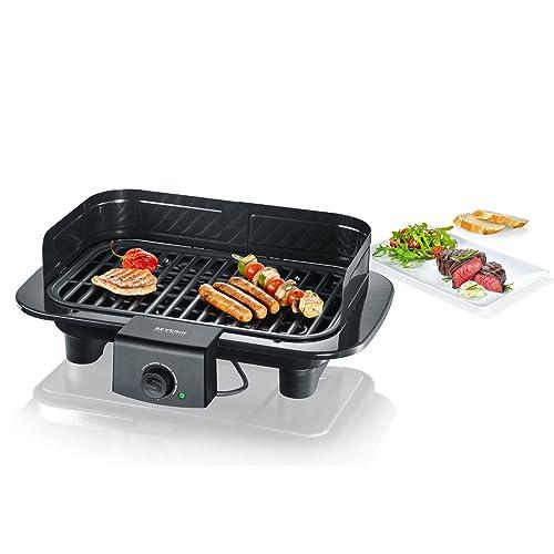 SEVERIN PG 1511 Barbecue-Tischgrill 2300W Grillfläche 37x23 cm schwarz