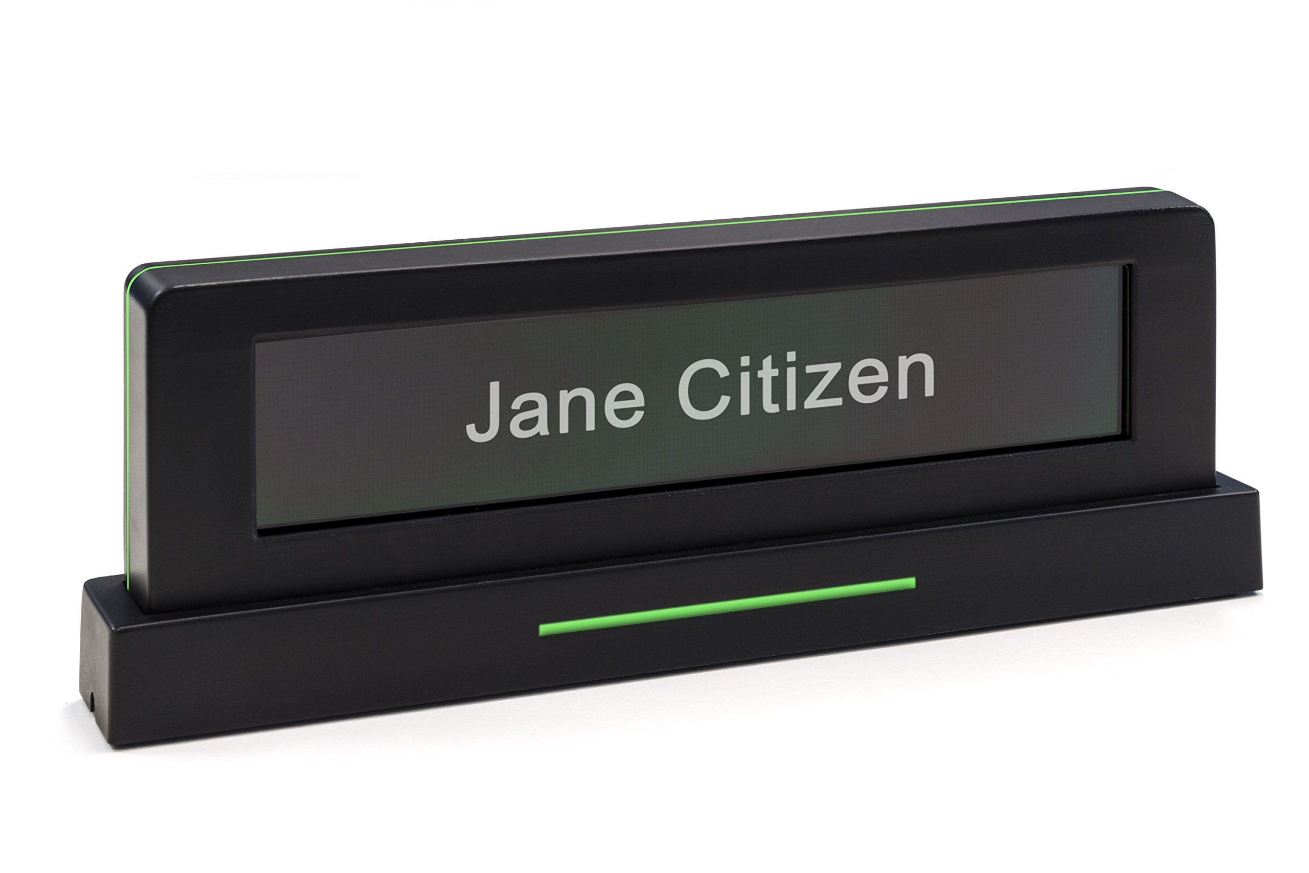 Embrava Blynclight Nameplate - Digital Name Display with Busy Light (Nameplate)