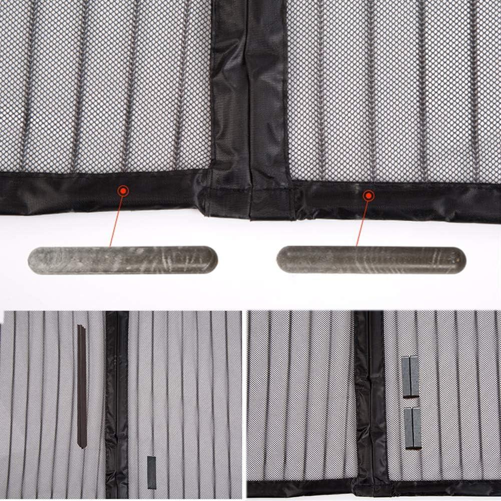 Magnet Automatisch zu Vorhang T/ür Mit Selbstklebend Haken /& flausch Klettband /& Rei/ßzwecken 85x200cm 33x78 TopJi/ä Magnetisch Fliegengitter T/ür Insektenschutz-Schwarz 85x200cm