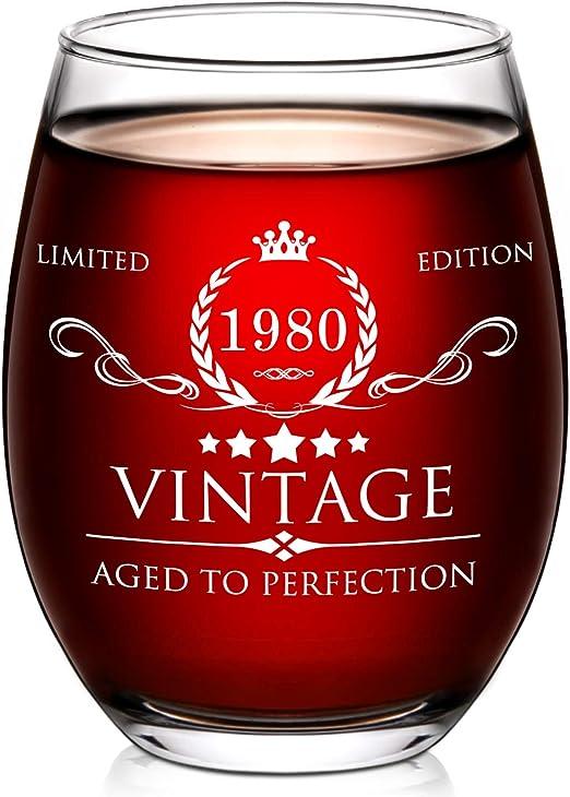 Amazon.com: Vaso de vino para 40 cumpleaños para mujeres y ...