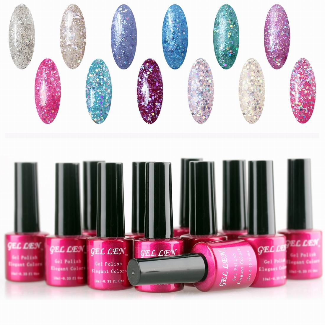 Gellen Brand Gel Nail Polish Non-toxic Soak Off Gel Nails UV LED Gel ...
