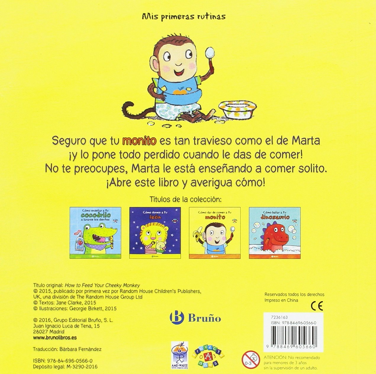 Cómo dar de comer a tu monito Castellano - A Partir De 0 Años - Proyecto De 0 A 3 Años - Libros Para Desarrollar El Lenguaje: Amazon.es: Jane Clarke, ...