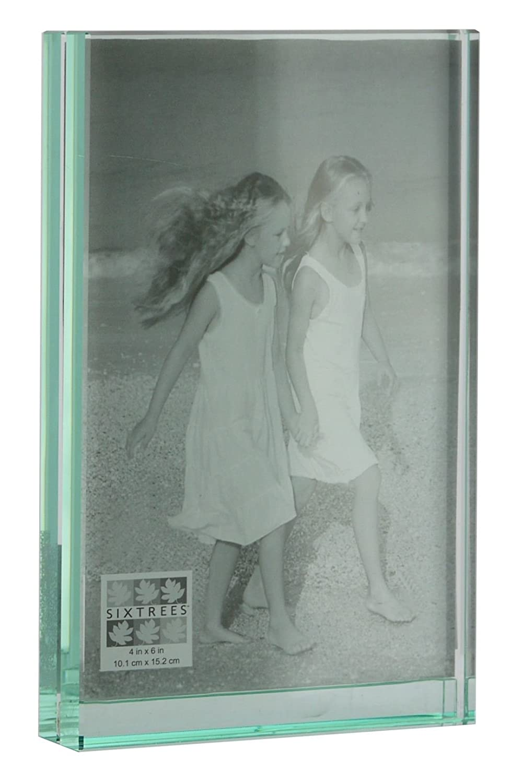 Horizontal New. Quality Frame SixTrees 5X7 Glass Photo Frame Beveled Edges