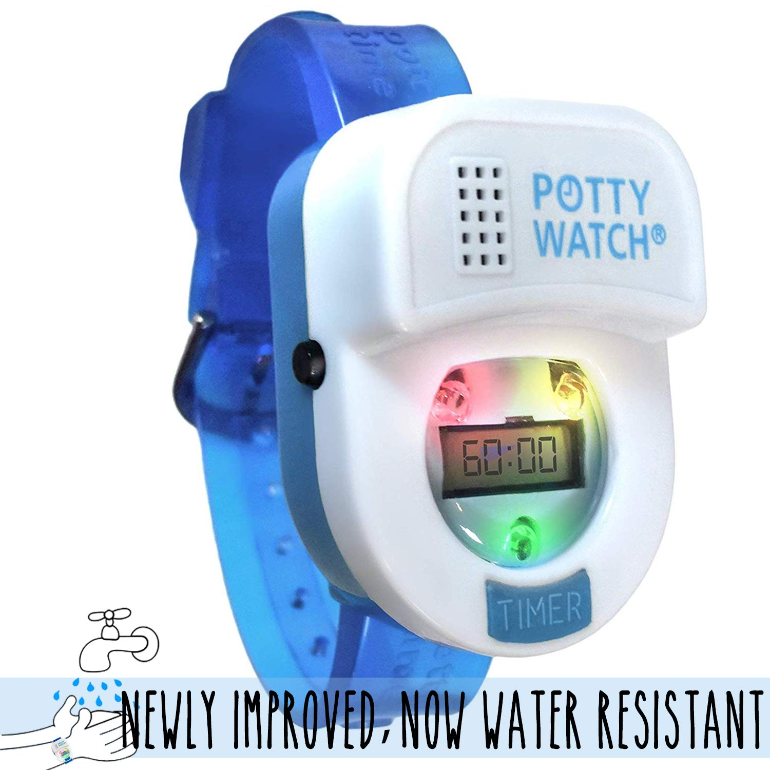 Potty Time: The Original Potty Training Watch | 2019 Version=Now Water Resistant | Set Automatic Timers + Music & Lights for Kid Friendly Reminders, ...