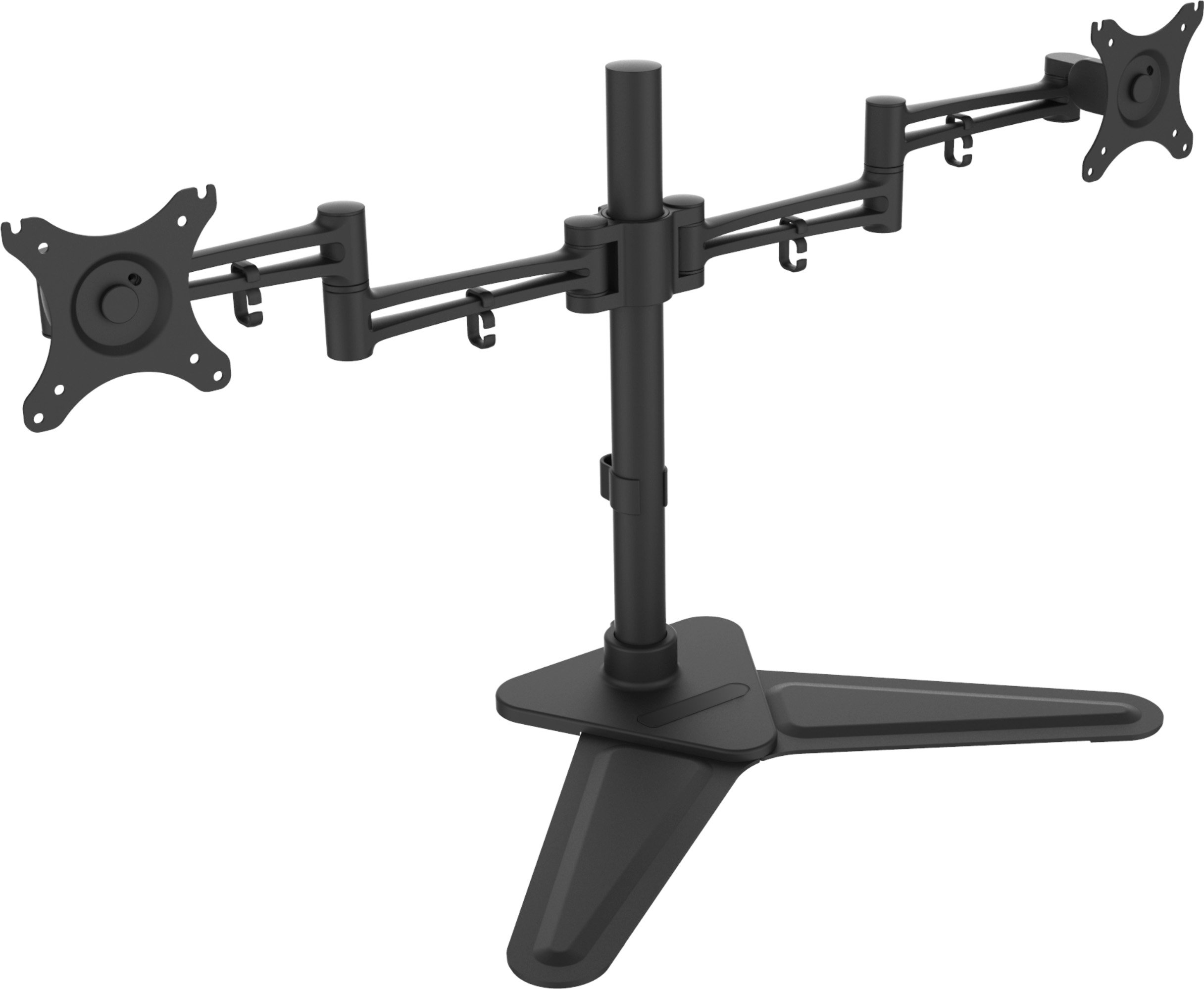 XtremPro Dual Monitor Mount for 2 LCD Screen Desk for 10'' - 30'' w/ Cable Management, Height Adjustable, Tilt -85° ~ +15°, ±180° Rotation, VESA 75x75, 100x100, 44Lbs Capacity - Black (41107)