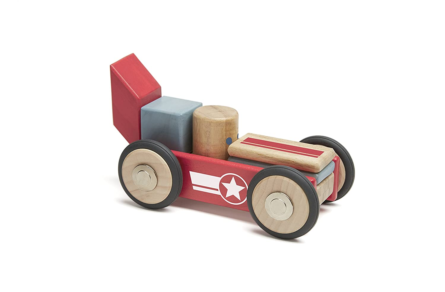 Tegu Daredevil Magnetic Wooden Block Set DDV-OGL-411T