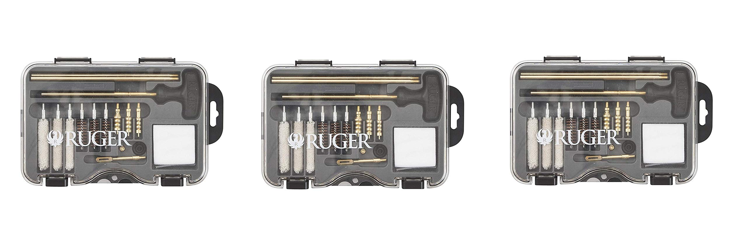 Allen Company Ruger Universal Handgun Cleaning Kit - .380ACP.357 Magnum, 9mm, 10mm.40 Caliber.38 Special.44 Magnum and .45 ACP (Pack of 3) by Allen Company