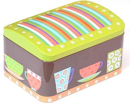 Su Wesko – Caja de lata de galletas para dulces para metal (Bote para galletas (Hojalata More: Amazon.es: Hogar