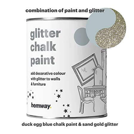 71%2BVcmE3lYL._SY450_ hemway duck egg blue chalk paint (with sand gold glitter) sparkle