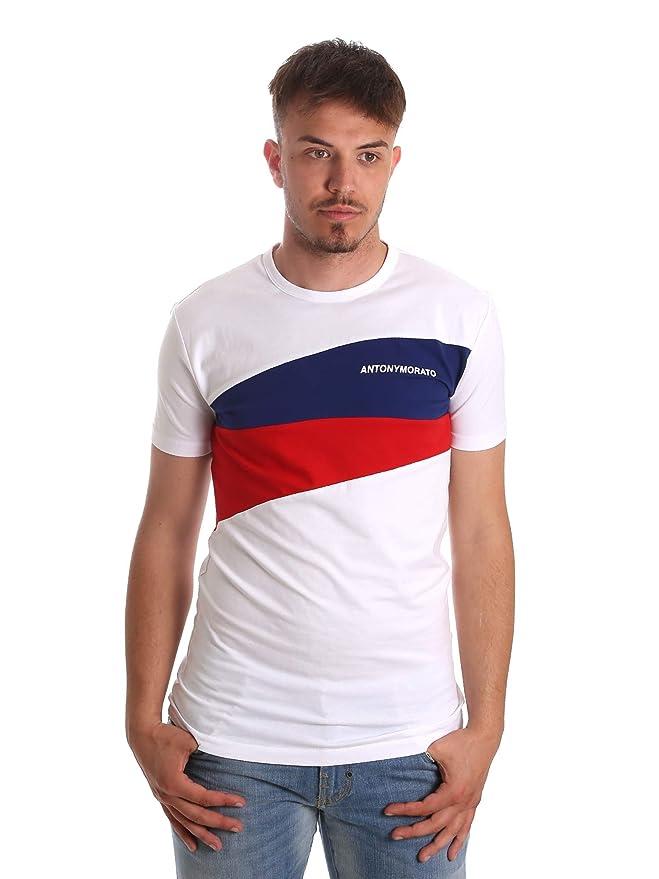Antony Morato Camiseta Contrasti Blanco Hombre: Amazon.es: Ropa y ...
