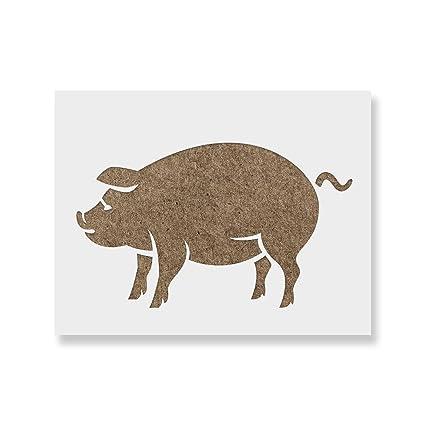 Amazon Pig Stencil Template