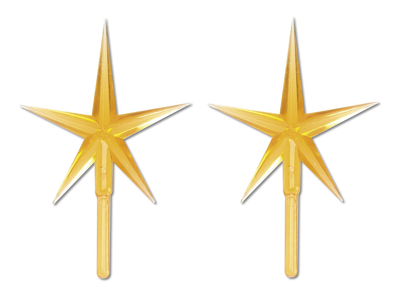 Amazon: Darice P0681 2piece Ceramic Tree Star Ornament, Gold: Home &  Kitchen
