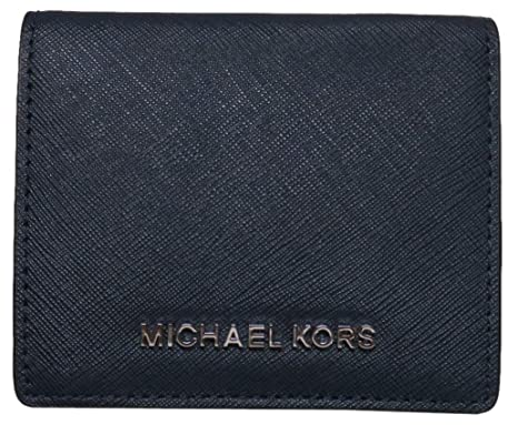ff05ec55a3e1 Image Unavailable. Image not available for. Color  Michael Kors Jet Set  Travel Leather Carryall Card Case Wallet Navy