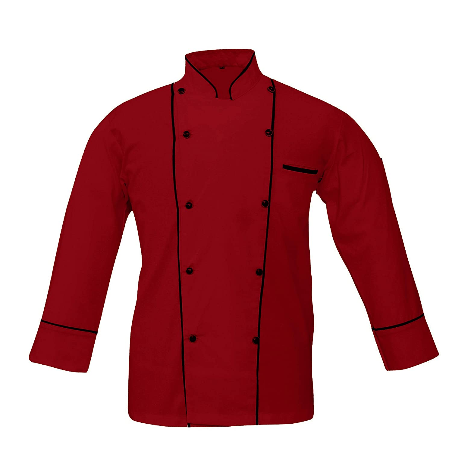 Leorenzo Creation PP-77 Men's Chef Coat Double Piping (Size= XXS-5XL, Colours=6) Leo Tailors