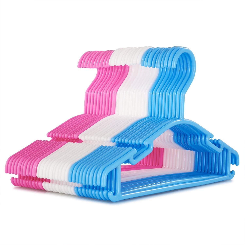 iDreameme Tragbarer Kleiderbügel, Faltbare Platzsparende Kleiderständer für Wäsche, Reinigung (10 Stück/Paket)