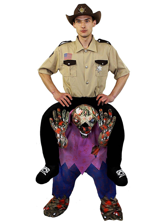 American Sheriff + Zombie Costume Pick Me Up Halloween Costume Large
