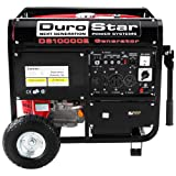Durostar DS10000E 16 HP Gasoline Powered Electric Start Portable Generator with Wheel Kit, 10000-watt, EPA Approved