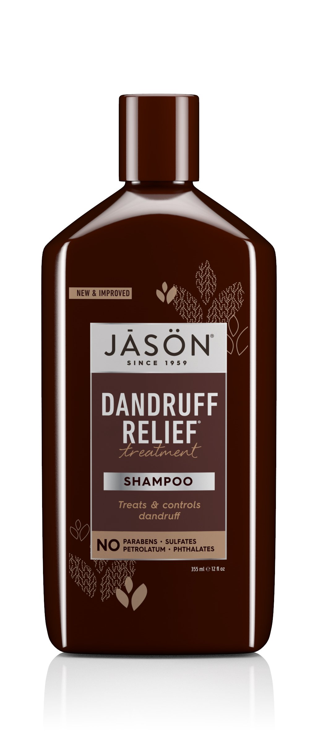 JASON Natural Cosmetics Dandruff Relief Shampoo, Rosemary, Olive and Jojoba, 12 Ounces