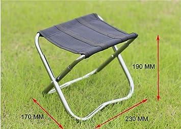Pequeña silla plegable portátil banco taburete plegable de ...