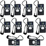 TIVDIO HRD-102 Portable DSP FM Radio for Tour Guide System Tour Guiding Teaching Travel Simultaneous Translation Meeting Museum Visiting(10 Pack)