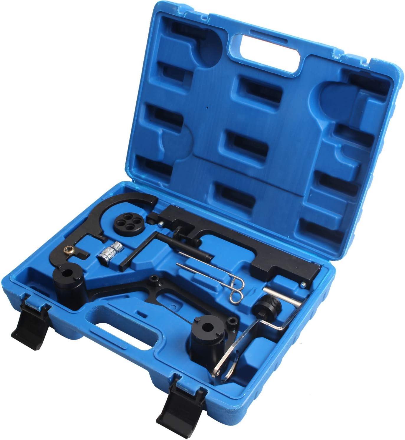 Cclife Motor Einstellwerkzeug Nockwellen Arretierung Werkzeug Arretierwerkzeug Steuerkette Kompatibel Mit Bmw N47 N47s N57 N57s Auto