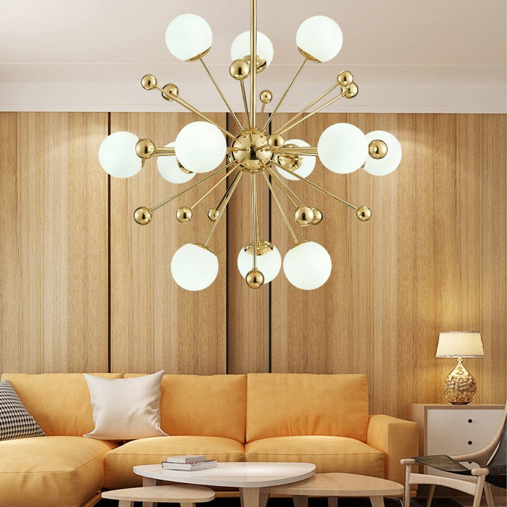 Sputnik Firework Chandelier Lighting 12 Lights Modern Pendant ...