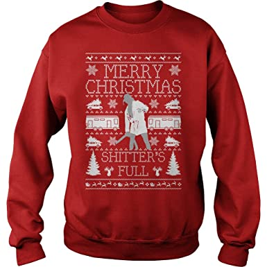 mama bear threads merry christmas shitter was full cousin eddie ugly christmas sweater s