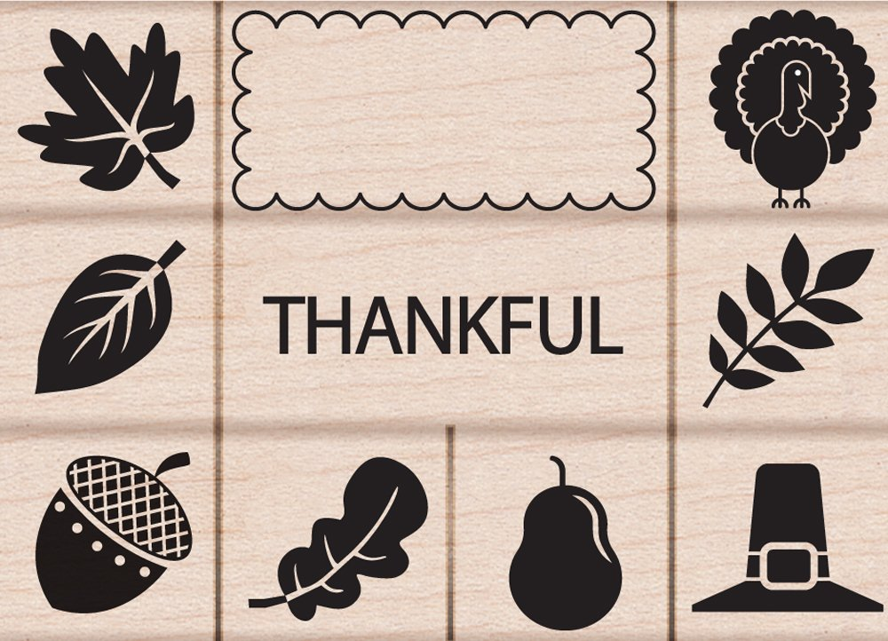 Hero Arts Thankful Woodblock Stamp Set LP295