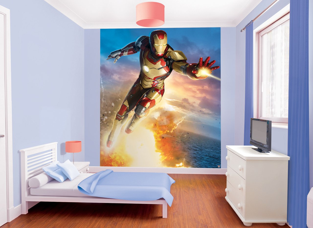 Walltastic 8 x 66 ft Iron Man Mural Wall Paper Amazoncouk