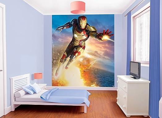 Walltastic 8 X 6.6 Ft Iron Man Mural Wall Paper Part 47