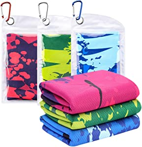 CHRUNONE Cold Snap Towel, 3Pack Snap Towel Cooling Towel, Sports Cooling Towels for Neck