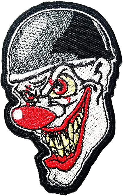 Fire Bikers Embroidered Patch Iron on Sew On Badge For Clothes Bags Shoes etc