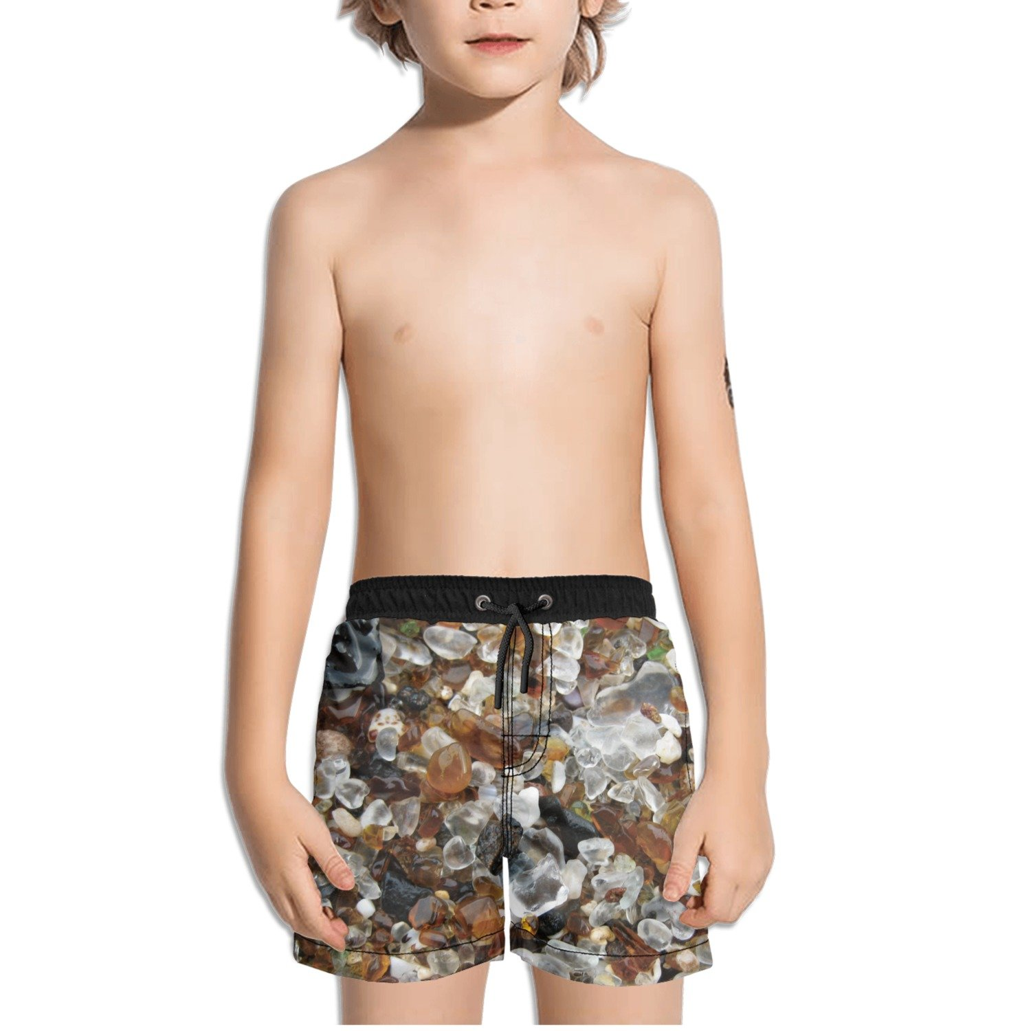 Ouxioaz Boys Swim Trunk Weathered Glass On Glass Beach Beach Board Shorts