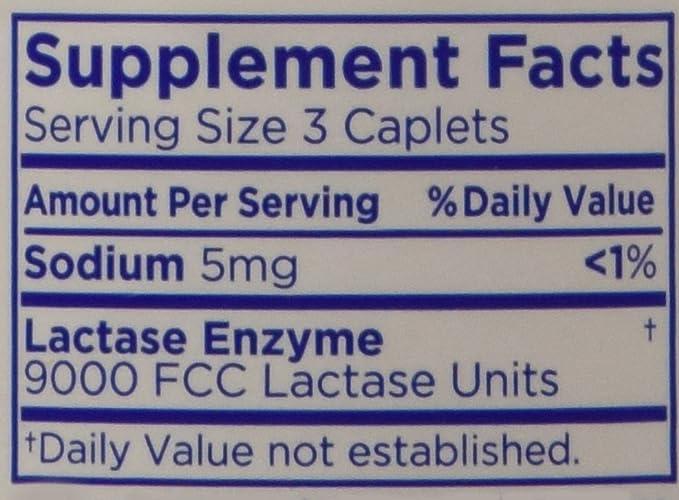 Lactaid Original Strength Lactase Enzyme Supplement, Caplets - 120 ...