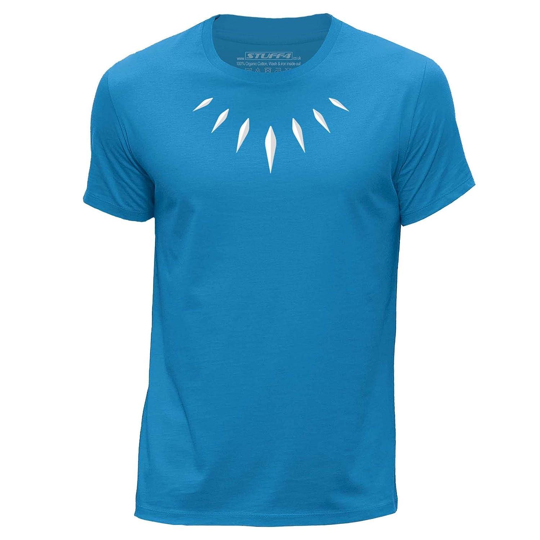 STUFF4 Boy/'s White Round Neck T-Shirt//Black Panther Inspired Wakanda//SZ