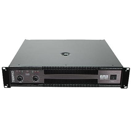 Amazon.com: EMB Professional 7500W 2CH Power Amplifier EB7500PRO: Musical Instruments