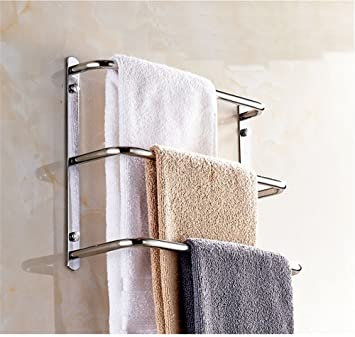 Multi Capa Baño toallero, baño multifuncional toallero de barra, toallero, toalla de baño de acero inoxidable, escalera tipo circular toalla rack: ...