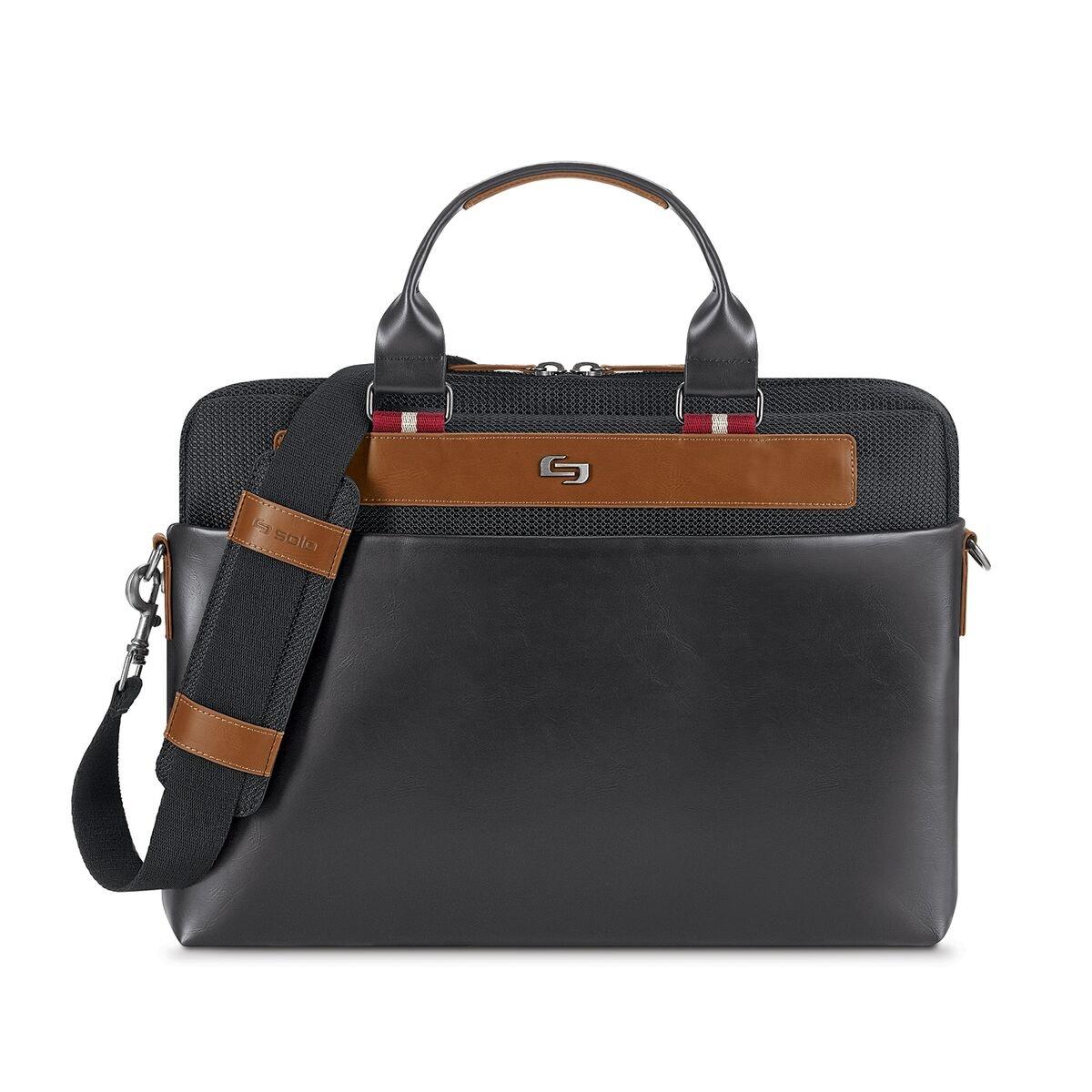 Solo Southhampton 15.6'' Laptop Slim Brief Briefcase, Black, One Size