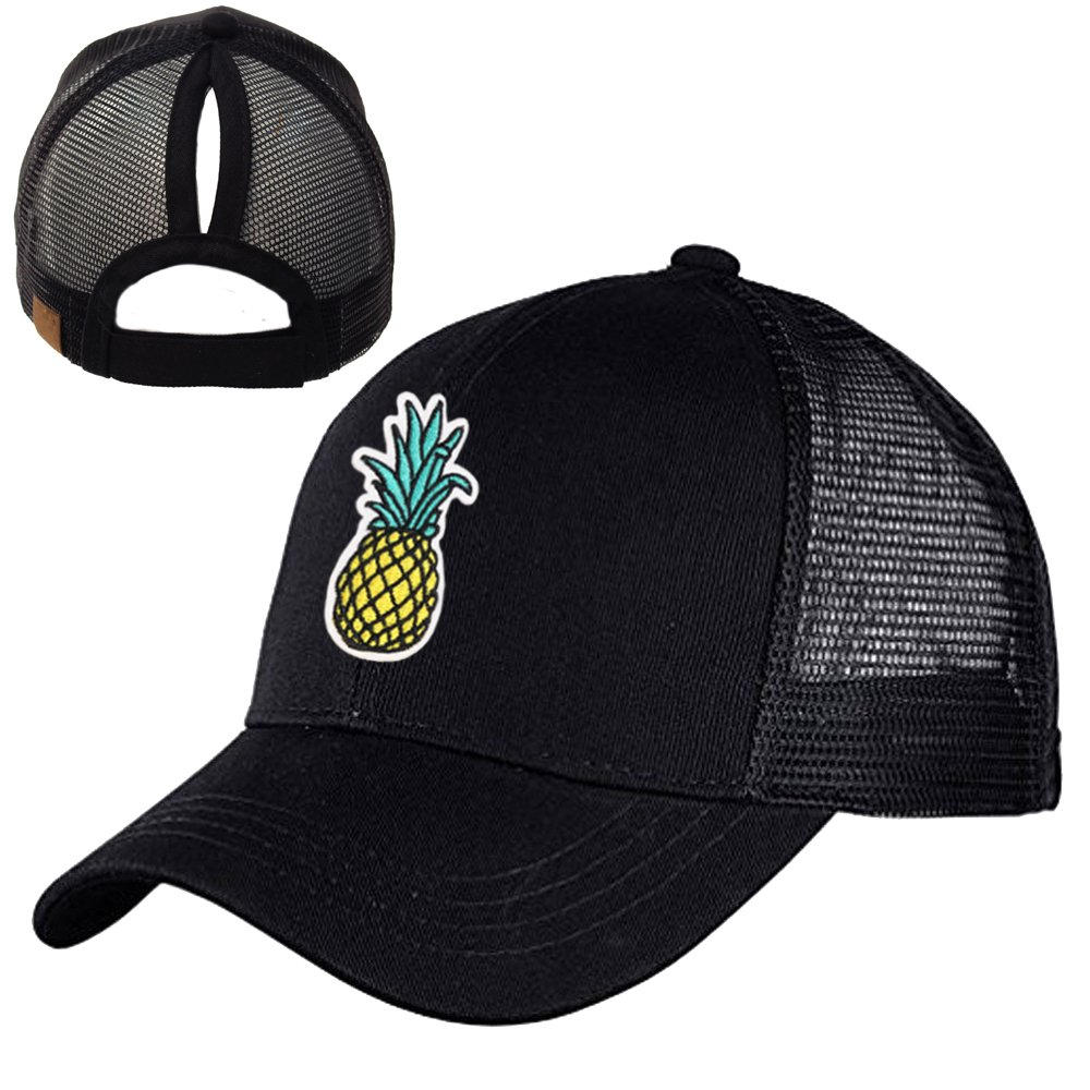 Ymombest Kid Ponytail Baseball Cap Adjustable Mesh Sun Protection Visor Hat