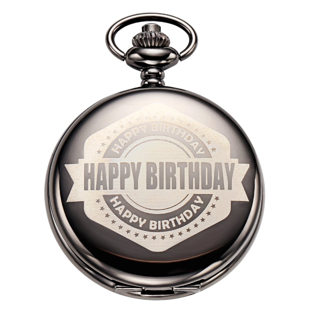 Happy Birthday Gifts Pocket Watches With Chain for Women Wife Son Mom,Dad Husband Daughter