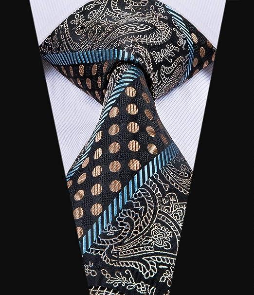 CDBGPZLD Dot Floral Marrón Y Corbata Negra Corbatas De 8.5 cm ...