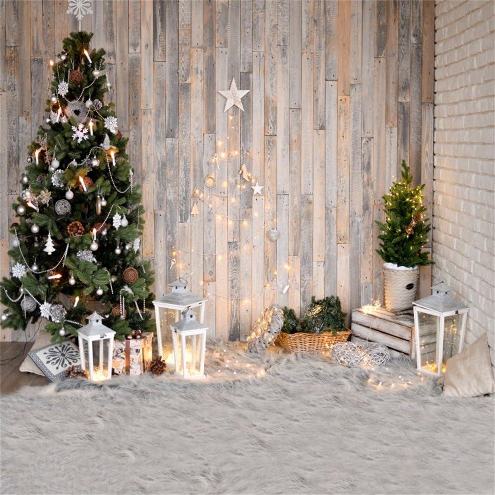 Yongfoto 3x3m Vinyl Foto Hintergrund Weihnachten Baum Kamera