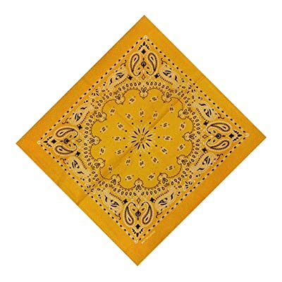 Moilant 100% Cotton Paisley Print Head Wrap Scarf Wristband Soft Bandanas: Clothing