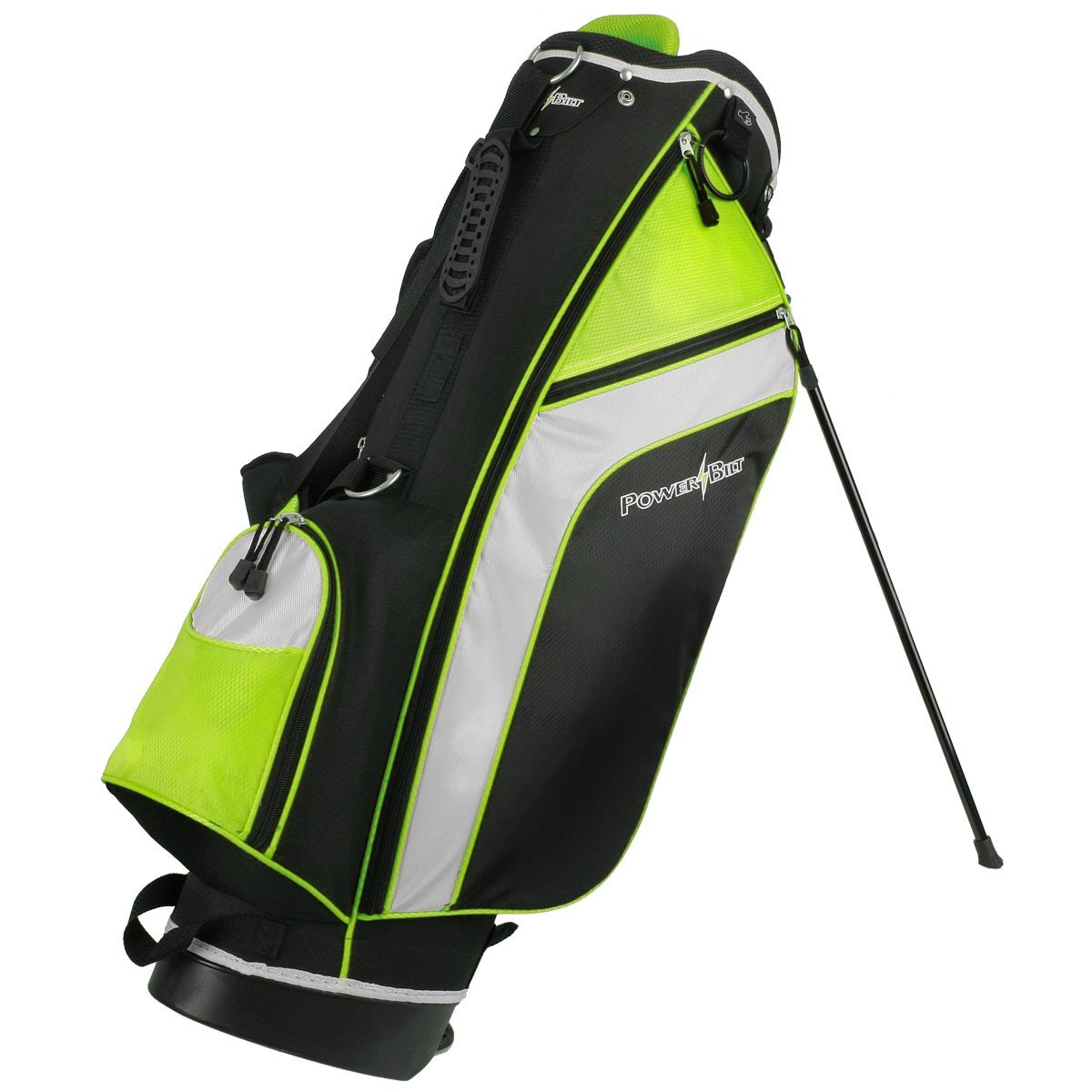 PowerBilt Santa Rosa Black/Green Stand Golf Bag (Black/Green)