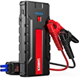 SANROCK 1800A 18000mAh Portable Car Jump Starter (up to 8.0L Gas/6.5L Diesel) with LCD Screen-12V Auto Battery Booster, Type-C Port, Quick USB Charge, Portable Power Pack with Built-in LED light
